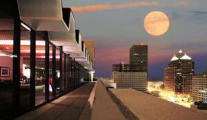 Photo from The Penthouse at full moon